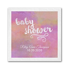 Artsy Shower - Napkin - Pink
