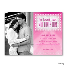 Moi Loves Him - Real Glitter Photo Save the Date Card